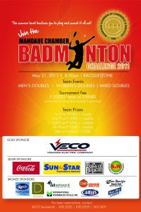 Mandaue Chamber Badminton Challenge 2011