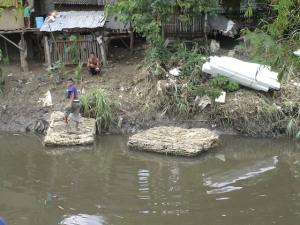 butuanon river at Umapad Mandaue with styro