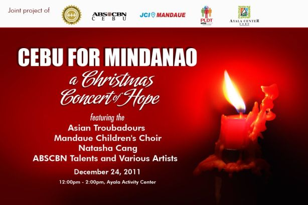 A Christmas Concert of Hope : for the benefits of Sendong Victims