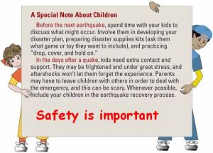 kids safety during earthquake