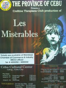 Les Miserables in Cebu Cultural Center