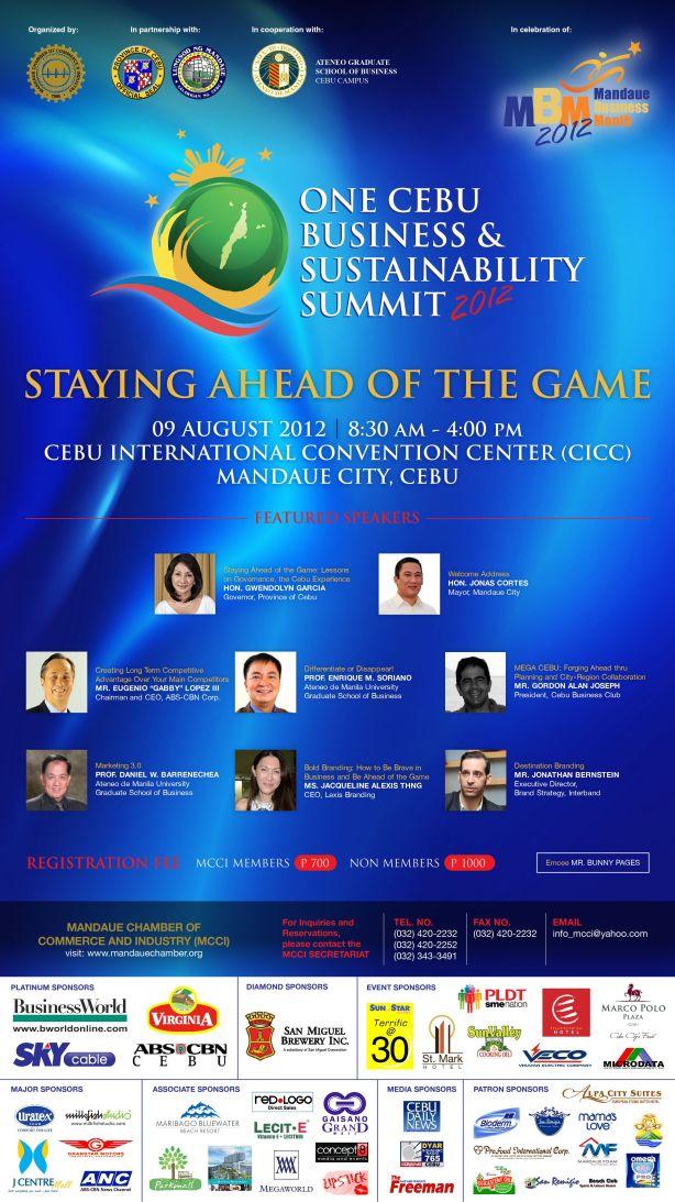 One Cebu Business & Sustainability Summit 2012