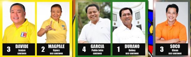 Candidates for the Province of Cebu